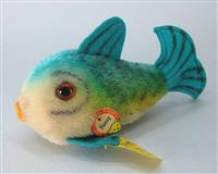 Steiff Flossy Fish, Blue,  Long. (Fisch) EAN 2310,00
