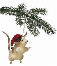 Steiff Christmas Mouse Ornament